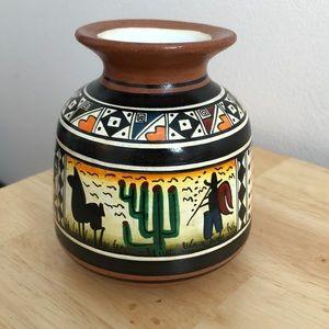 Authentic South American Ceramic Vase
